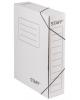 Короб архивный с завязками микрогофрокартон 75мм до 700л Staff белая 128878