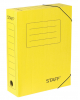 Короб архивный с резинкой Staff 75мм микрогофрокартон до 700л желтая 128880