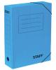 Короб архивный с резинкой Staff 75мм микрогофрокартон до 700л синяя 128879