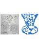 Трафарет фигурный 'Ваза с цветами' 17С 1147-08