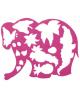 Трафарет фигурный 'Слоник в джунглях' 17С 1145-08
