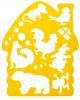 Трафарет фигурный 'Теремок' 20С 1361-08