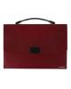 Папка-портфель пластиковый бордовый ЕК30159