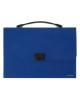 Папка-портфель пластиковый синий ЕК30158