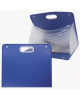 Портфель 13 отд. на кнопке, синий DC0008-BL
