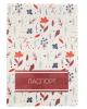 Обложка для паспорта 'Цветы' красные 2966543