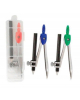 Готовальня 2 предмета (циркуль. карандаш ч/г 89мм) пластиковая упаковка М-4510